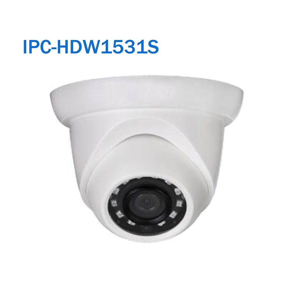 Dahua Security Network IP Camera IPC-HDW1531S 5MP WDR IR Eyeball PoE Camera without Logo free shipping dahua cctv camera 4k 8mp wdr ir mini bullet network camera ip67 with poe without logo ipc hfw4831e se