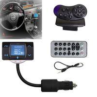 Bluetooth Wireless transmisor FM modulador USB MMC SD reproductor MP3 Car kit remoto LCD cargador de coche para iPhone 6 5S Smartphone telefono 5C