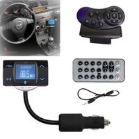 Wireless Bluetooth FM Transmitter Modulator USB SD MMC Remote Car kit MP3 Player LCD Car Charger for iPhone 6 5S 5C Smartphone