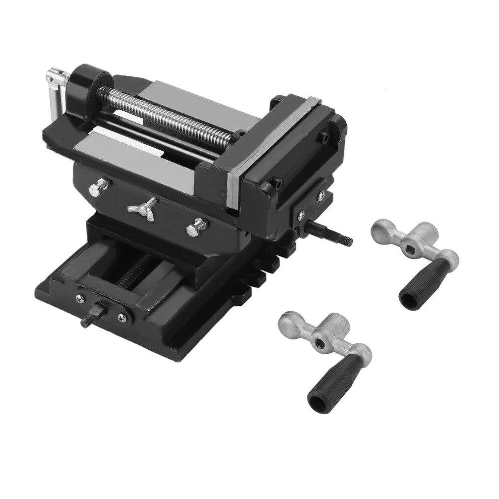 Multifunctional Bench Vise For Drilling Milling Machine 5 Inch Cross Working Table Vice Durable Workshop Clamp 125mm