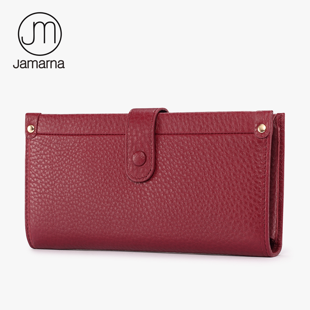Jamarna Wallet Female Multifunctional Women Wallets Genuine Leather Phone Credit Card Holder Purse Clutch jamarna genuine leather wallet for wallet long clutch zipper packet coin purse card holder phone wallet brand free shipping new
