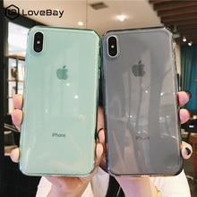 Lovebay для iPhone 7 чехол для телефона прозрачный сплошной карамельный цвет для iPhone 11 Pro XS Max 6 6s 7 8 Plus X XR Мягкий ТПУ силиконовый чехол-накладка