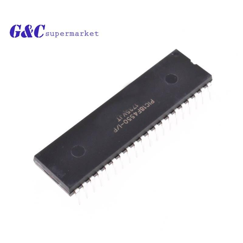 1PCS IC  PIC18F4550 MICROCHIP DIP-40 NEW PIC18F4550-I//P