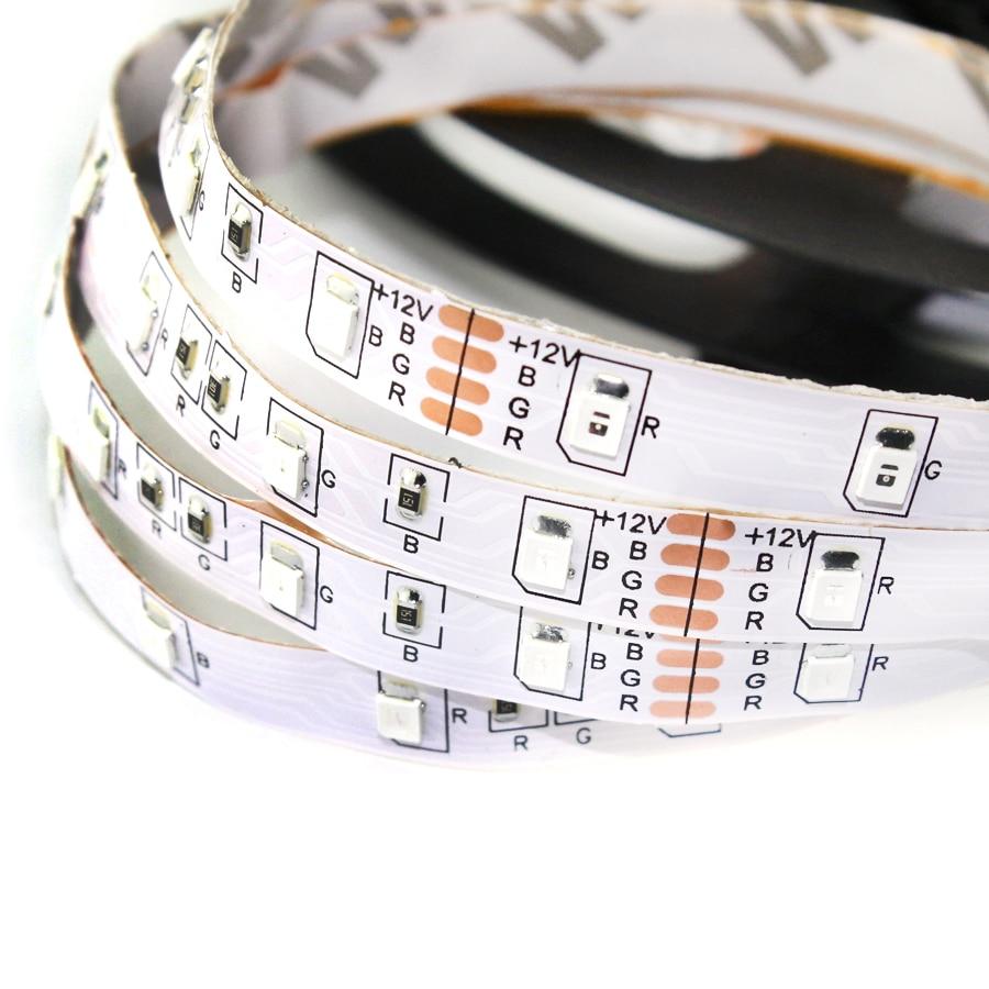 A16 Светодиодные ленты 2835 свободный гнуть S Форма Светодиодные ленты DC12V гибкий свет 60led/M 5 м/лот для письма канала не Водонепроницаемый