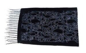 Image 4 - グリッターカシューヒジャーブスカーフベルベット黒スカーフ女性のためのイスラム教徒のギフトパシュミナ冬ポンチョスペインショール送料無料