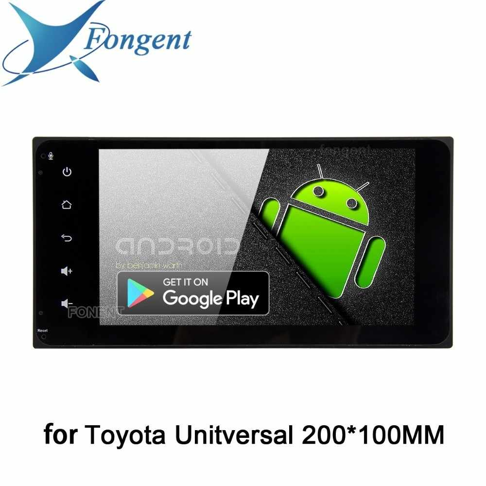 "Fongent автомобиль 2 din Android 9,0 компактное минирадио для Toyota Corolla Camry Prado RAV4 Bluetooth gps 7 ""1080 P аудио 64 Гб rom"