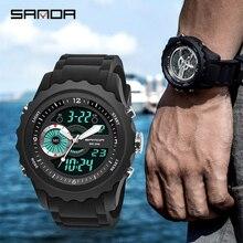 цена Watches Men Military Sports Top brand luxury SANDA Waterproof LED Digital Wristwatch Male Clock Watch Relogio Masculino Relojes онлайн в 2017 году