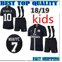 468d8b9c2 NEW 2018 kids psg champions league soccer jersey Paris mbappe 18 2019 child  BOY kids