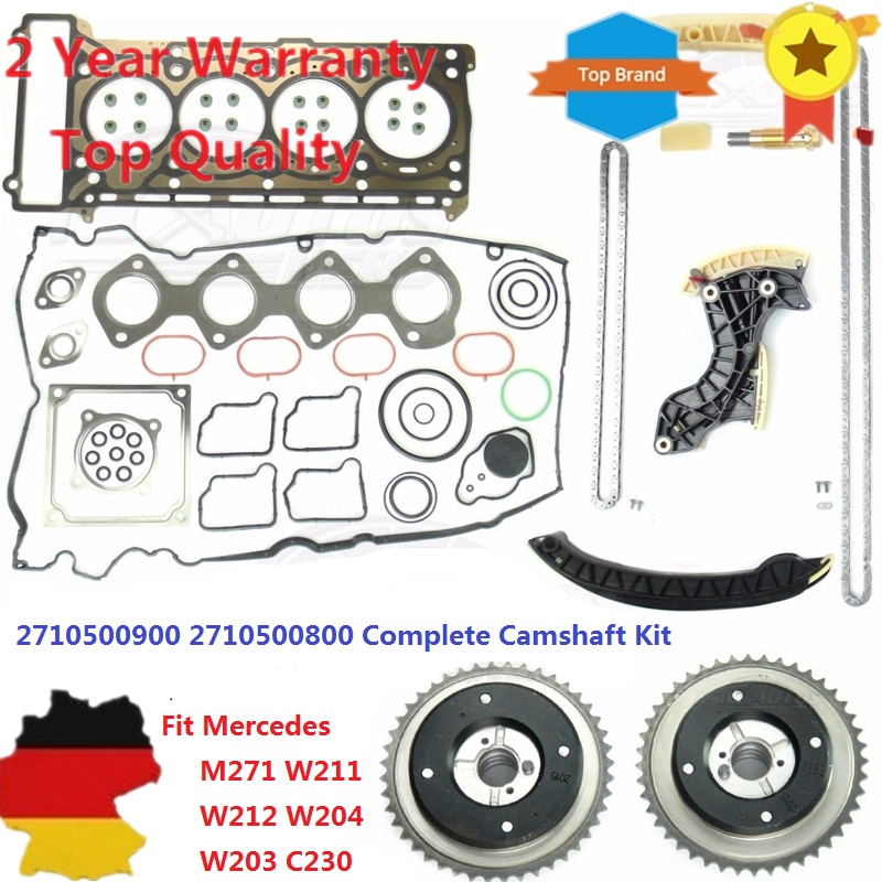 AP02 Cam Timing Chain Kit Camshaft HEAD valve For <font><b>MERCEDES</b></font> <font><b>W203</b></font> W204 W211 M 271 M271 2710521116 2710500900 2710500800 2710501447 image