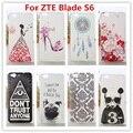 Novo caso zte blade s6/diamante de cristal de luxo 3d bling capa hard case plástico para zte blade s6 (5 polegada) Caso de Telefone celular