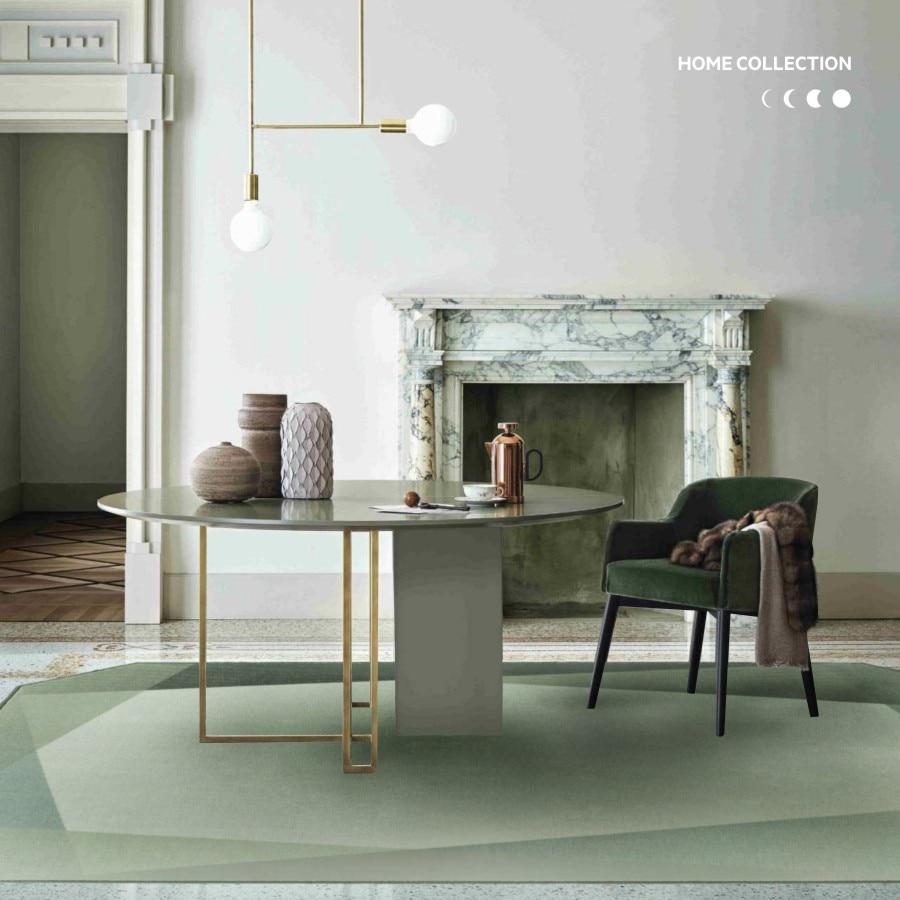Collalily mode Ins vert style nordique tapis géométrique bohême solide salon salon tapis plaid rayé design moderne bleu