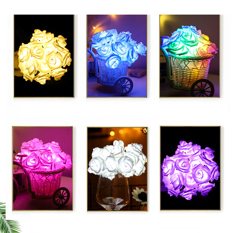 2019 Best Gift LED Rose Flower LED String Lights Batteridrift Event - Ferie belysning - Bilde 6