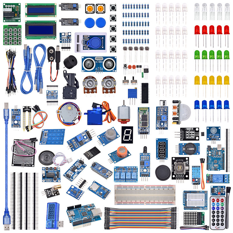 UNO R3 LCD Sensor Wifi Bluetooth Laser Beginner Starter Kit For Arduino
