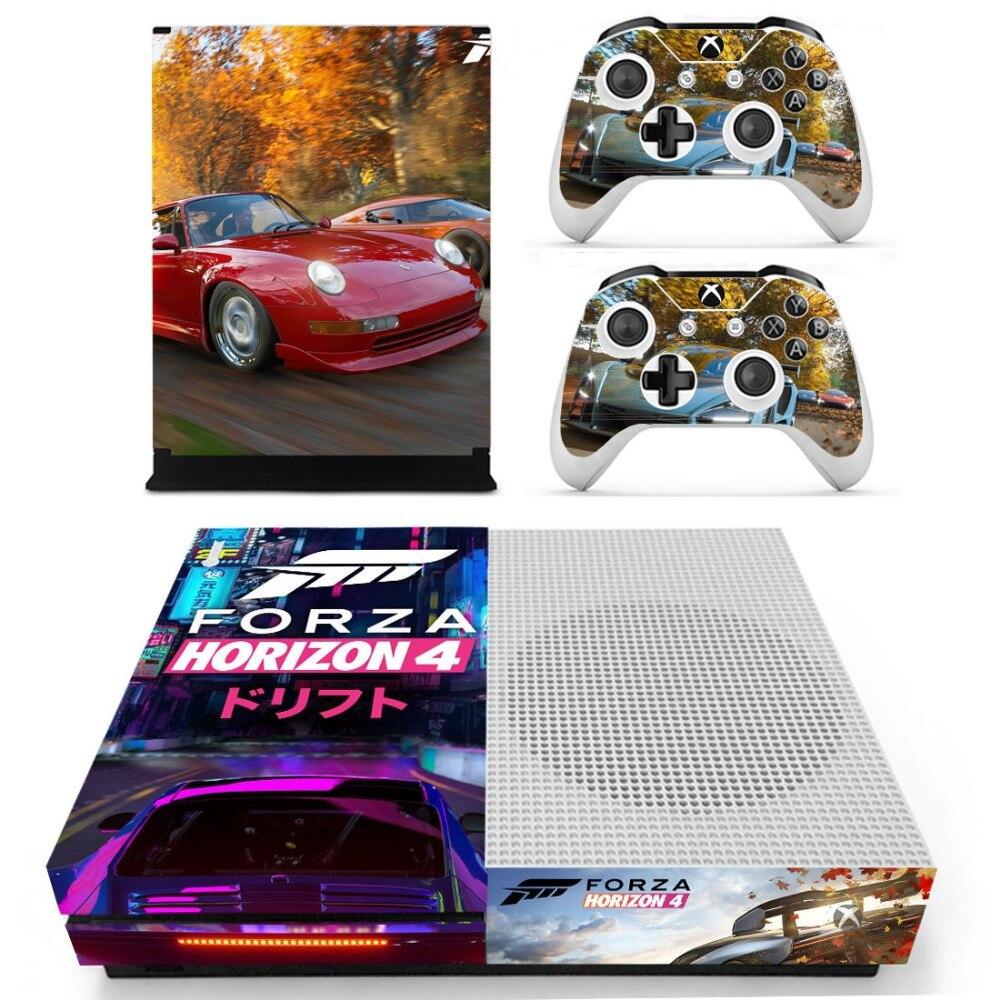 Forza Horizon 4 Autoadesivo Della Pelle Della Decalcomania Per Xbox One S Console e Controller per Xbox One Slim Autoadesivi Della Pelle Del Vinile