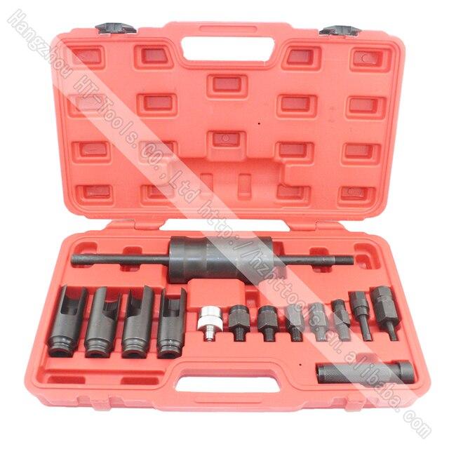 14 шт. Дизель Инжектор Extractor Съемник С Common Rail Адаптер Слайд Молоток Removal Tool Kit