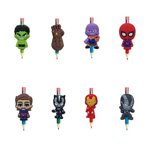 8pcs Avengers Infinity War Pencil Topper Cute Pen Holders Stationary