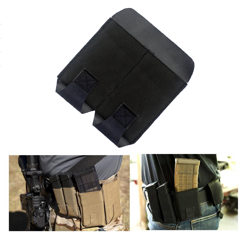 Tactical Double Pistol Mag Pouch For Handguns With Belt Clip Oxford Cloth Military Bag Molle Pouch Fits 2 Inch Width Belts