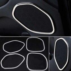 4 개/대 ABS 크롬 도어 스피커 반지 장식 트림 자동차 인테리어 장식 지프 그랜드 체로키 2011-2016