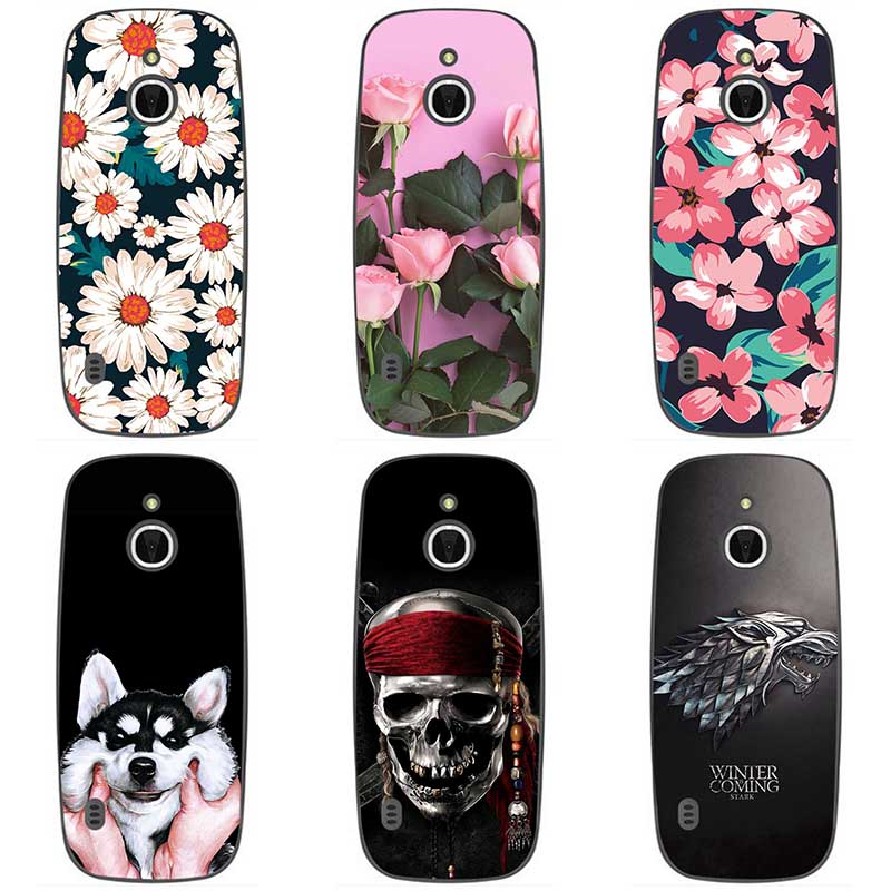 For <font><b>Nokia</b></font> <font><b>3310</b></font> <font><b>3G</b></font> Soft silicone Phone <font><b>Cases</b></font> For <font><b>Nokia</b></font> <font><b>3310</b></font> <font><b>3G</b></font> 4G Soft TPU Material Back Cover Coque Print painting Flower style image