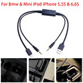 CAR AMI MMI MDI 3.5mm AUX Charger Cable Adapter For Bmw & Mini iPod iPhone 5s 6 Interface Audio USB Cable AUX C/5