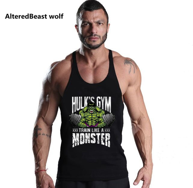Men Brand   Tank     Tops   Bodybuilding HULK Gyms print Fitness men Vest Stringer Muscle Sleeveless Shirt workout   Tank     Top   for men