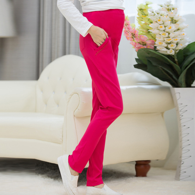 Maternity Pants for Pregnant Women New Fashion Pencil Pants Maternity Pants Belly Cotton Autumn Pregnant Trousers