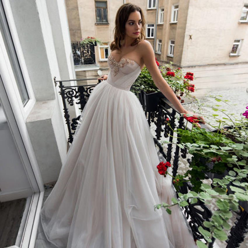 White   Evening     Dress   Long 2019 Sweeyheart A-line Chiffon Sleeveless Backless Beading   Evening   Gown robe de soiree