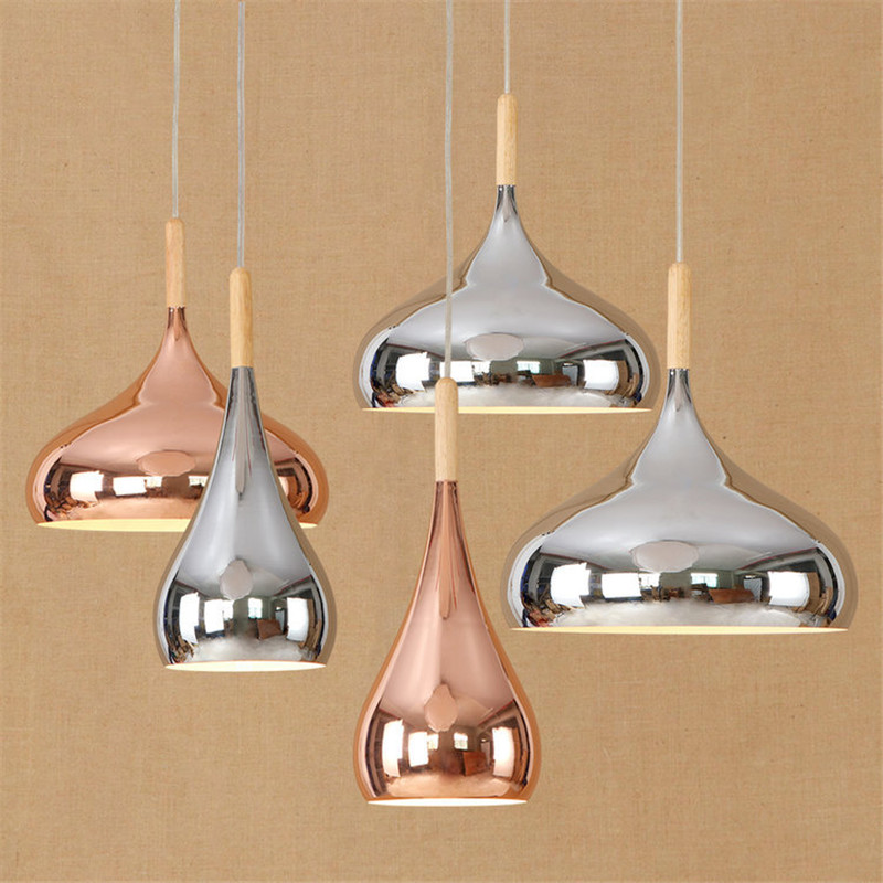 Post-modern Nordic Rose Gold Chrome Pated Chandelier Dining Room Bedroom Living Room iron Simple Cafe Bar lamps Free Shipping