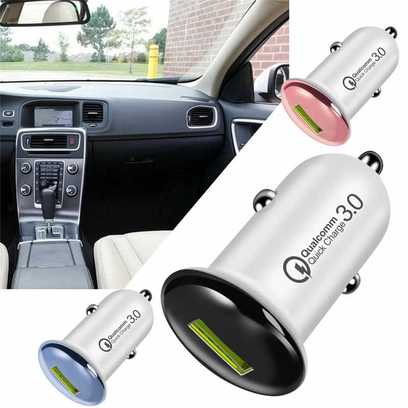 Mini 18W Fast Charger Single USB Car Charger Adapter Quick Charge 3.0 Car-Charger Auto Charging For Xiaomi Mobile Phones