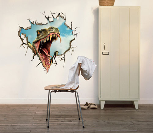 free shipping dinosaur 3d printer wall art decals vinyl stickers