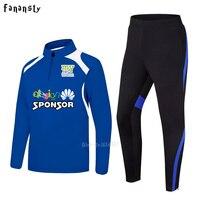 Men sportswear football training suits soccer tracksuits adult long sleeve football uniform sports kit 2017 new