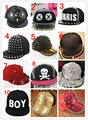 Hot Baseball Hat Personality Punk rivet hiphop casquette Hunting dance peak cap Free shipping