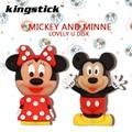 2016 Nueva llegada lindo Mickey/Minne dibujos animados USB Flash Drive 64 GB 32 GB 16 GB 8 GB USB 2.0 pen drive de memoria flash de disco freeshipping