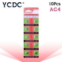 YCDC 10 шт./лот = 1 карты AG4 377A 377 LR626 SR626SW SR66 LR66 кнопочный элемент батарея монетного типа для часов, TIANQIUBrand Батарея