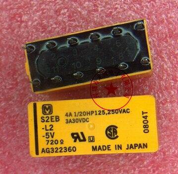 HOT NEW S2EB-L2-5V S2EB L2-5V S2EB-L2 5V S2EB-5V 5VDC DC5V DIP12 hot new relay hf6 73 5v hf6 relays 5v 5vdc dc5v 5v sop 2pcs lot