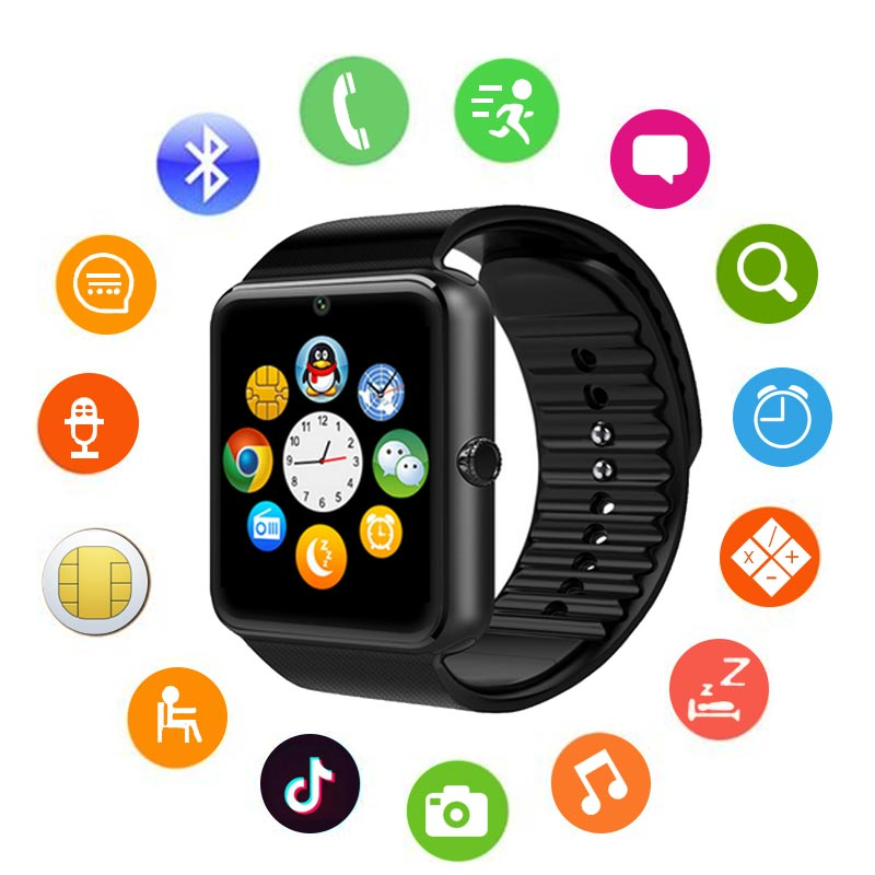 HATOSTEPED Multilingual Bluetooth Smart Watch Wristwatch For Samsung Xiaomi Huaiwei IPHONE For Android Ios Smartphones IPhone in Smart Watches from Consumer Electronics