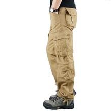 Men Cargo Pants 2019 Autumn Tactical Pants Casual Cotton Tro