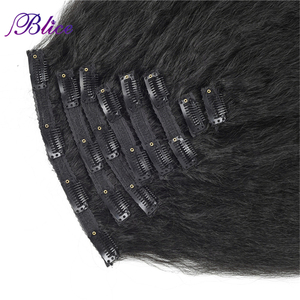 Image 3 - Blice 18 Clips In Hair Hairpieces 16 20 Inch Kinky Straight Long Synthetic Heat Resistant Hair Extensions 8Pcs/set Deal