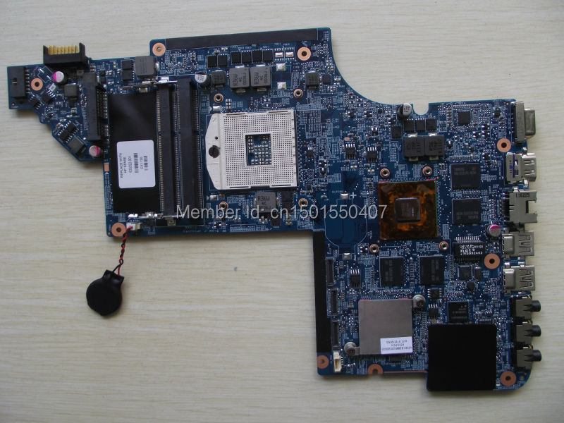 ФОТО Free Shipping 639392-001 for HP Pavilion DV7 DV7-6000 Dv7T motherboard 6770/1G.All functions 100% fully Tested !