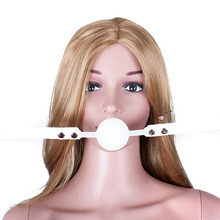 48MM PU Leather Open Mouth Ball Gag Adult Games bdsm Sex Toys for Couples Flirting Sex Products for Women Sex Games for Adults