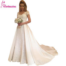 Свадебные платья 2020 атласное платье с аппликацией свадебные