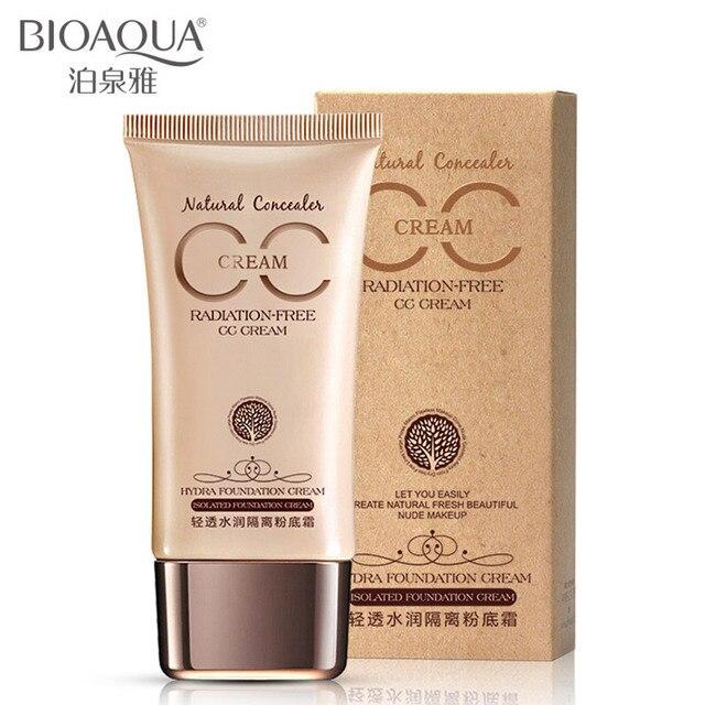 BIOAQUA líquido base CC crema aceite-control hidratante maquillaje separación escarcha corrector base crema cuidado de la piel BB crema