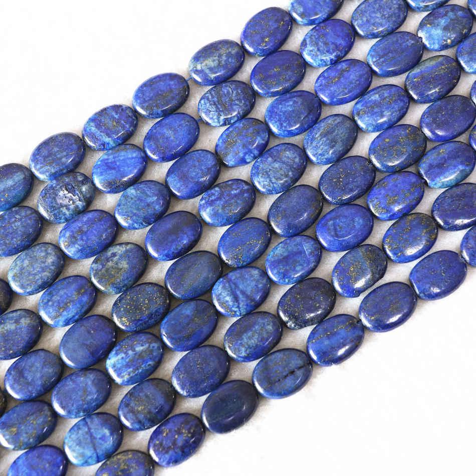 """Azul Lapislázuli cuentas de piedras preciosas Oval para joyería haciendo Envío Gratis 15/"""""""