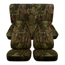 Auto Car Seat Covers Jungle Camouflage Cover Simulation Tree Fabric SUV Off-Road Cushion