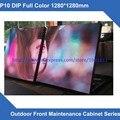Publicidade ao ar livre display led preços de tela P10 ao ar livre display led 1280*1280mm Ferro Gabinete liderado parede Da Frente Aberta Videotron