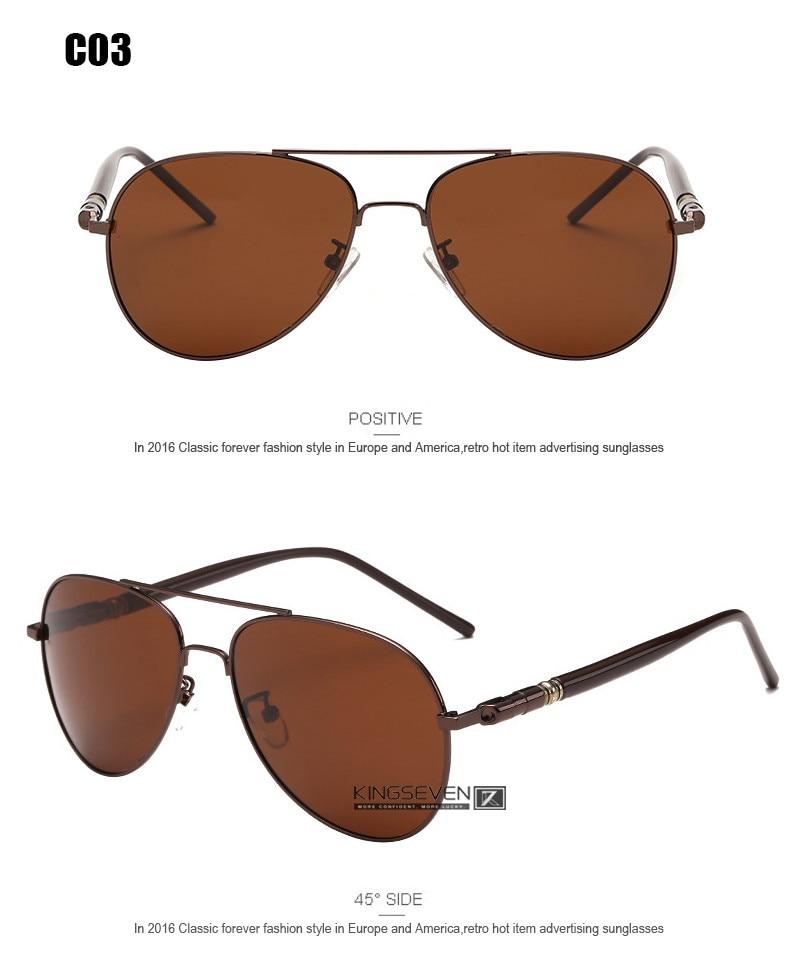 Hot! With 6 Accessories Kingseven Brand Designer Aviator Polarized Sunglasses Men Driving Sport Sun Glasses Women Oculos 8