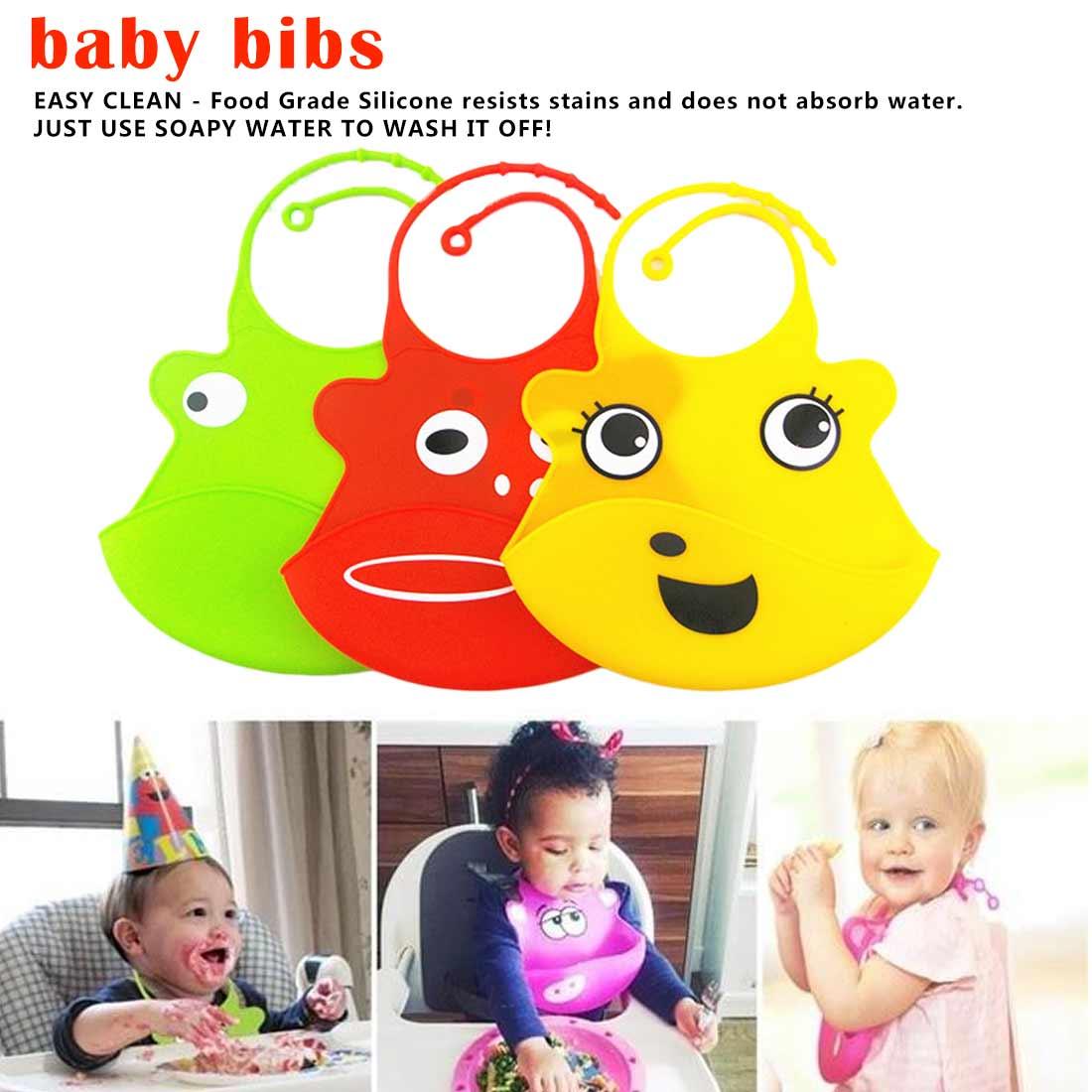 Baby Bandana bibs Cute Tablecloth Waterproof Kid Bibs Baby Soft Silicone Bib Saliva Dripping Scarf Infan Neckerchief Bandana in Bibs Burp Cloths from Mother Kids