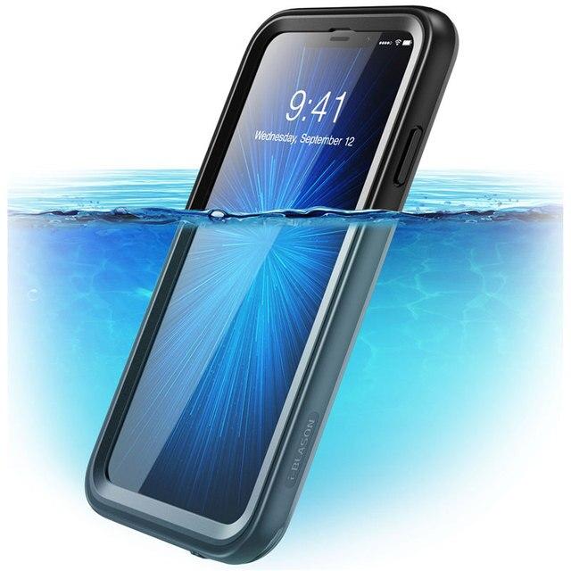 Para iphone Xs Max Case 6,5 pulgadas i blason Aegis impermeable de cuerpo completo rugoso funda protectora con Protector de pantalla incorporado