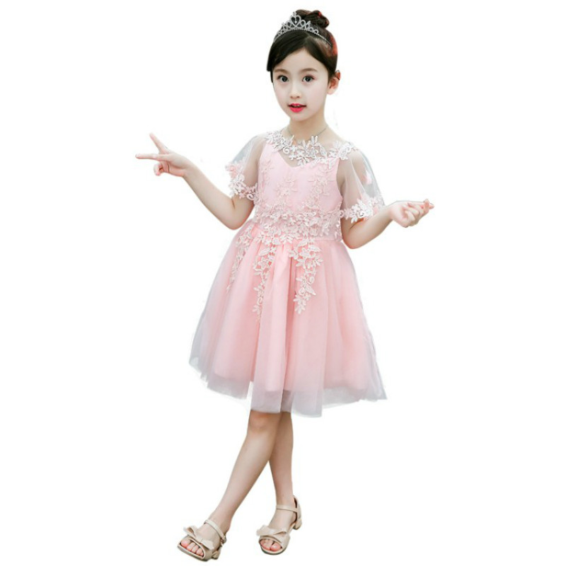 Summer Flower Girls Dress 2018 New Fashion Lace Children Princess Dress 5 6 7 8 9 10 11 12 Year Kids Clothes for Party Pink girls lace dress princess toddler clothes baby girl new year costume sweet summer 2017 kids flower children clothing 3 4 6 8 11y