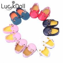 Luckdoll zapatos de moda de color sólido para 18 pulgadas American Girl Dolls accesorios para muñecas
